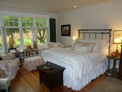 You will love my master suite with its sunny southern exposure and lovely views.