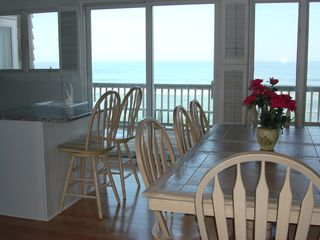 Brant Beach house photo - Seating for at least 10! Watch the dophins swim by and the pelicans swoop down!