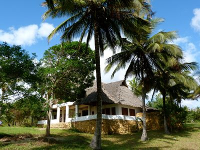 Beach villa with staff and services