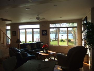 lake view from interior