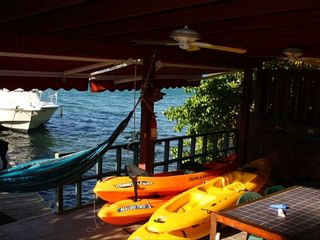 Culebra villa photo - Dock Terrace, Inclusive use of Kayaks for our guests..