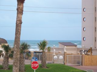 South Padre Island house photo - great ocean view from the front porch!