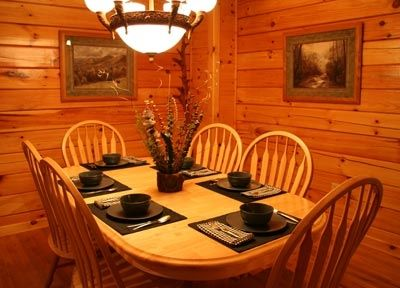 Enjoy your feast at the large dining table with seating for six
