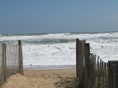 The ocean during a northeaster. Not what you will normally see in the summer