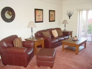 Sedona condo photo - Upscale Leather in Living Room for Your Comfort
