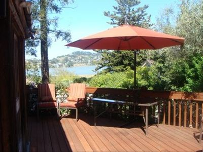 Large deck with S.F. Bay view