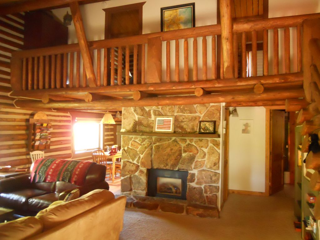 Large Floor Plans Rustic House further Hill City South Dakota Vacation Rental Cabin Proid 73315 additionally Impressive Rustic Cabin Cottage Interior Designs further Index as well 358 Rustic Hickory Log Oak Student Desk. on mountain log cabin living room