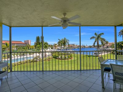 Relax in island paradise in our clean and comfortable condo with water views