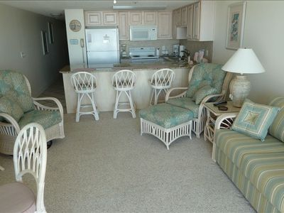 Beautiful West End beachfront condo with free Wi-Fi access in Ocean Isle Beach.