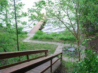 Lake Wisconsin house photo - very secluded, private lake access and pier (not for boat docking)