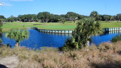 Watch the golfers on the green or wildlife in the lagoon!