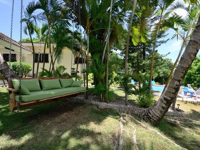 Comfortable Day Bed Swing Overlooking The Tropical Garden!