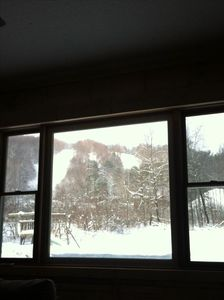 Caroga Lake house rental - View of Ski Area from Property