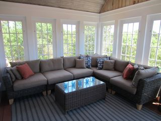 Katama house photo - Sun-Filled Screened Porch