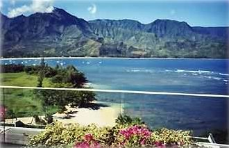 Walk to this beach on Hanalei Bay