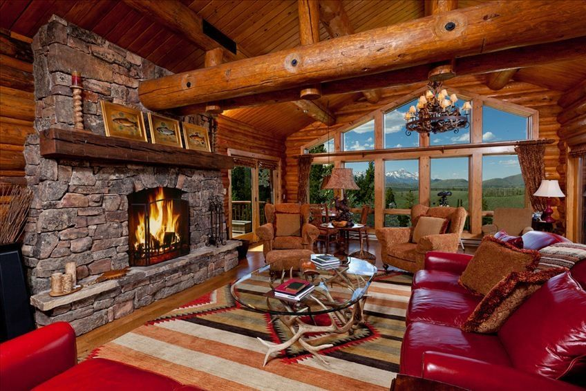 Luxury 5 bedroom log home with spectacular homeaway for 5 bedroom log homes