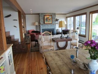 Dining area, kitchen to left, living room, English Farm Table (1700's)