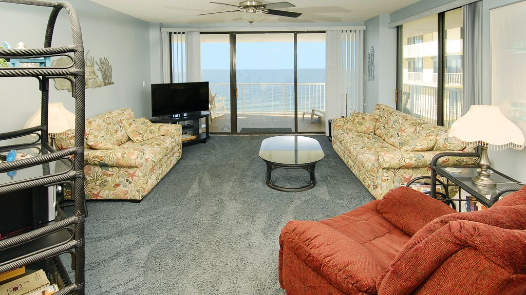 Access to the balcony with lots of natural light.  Look at that view!