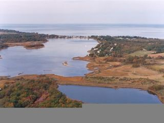 Southold house photo - Aerial view of LI Sound and inlet- beach house is located east of causeway