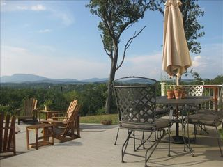 Lexington cabin photo - .Outdoor dining with a view.