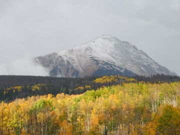 First Snowfall in September 2012! The Leaves are Just Coming into Peak Color!