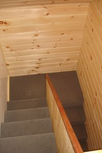 Camden cottage rental - view coming downstairs