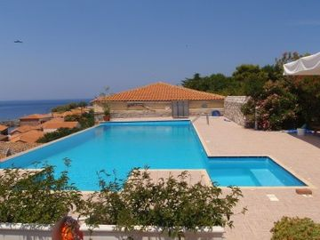 Villa Molova, relaxation area and swimming pool