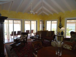 St. Croix house photo - Living Room and sliding glass doors to the gallery.
