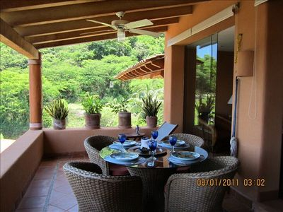 You can dine or relax on the large terrace with chaise, barbecue and wet-bar.