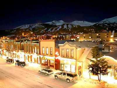 Downtown Breckenridge is just 1 mile down the hill from the chalet.