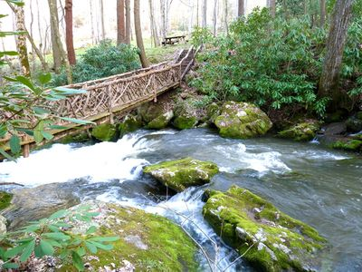 Walking Bridge at Winding Falls Creek