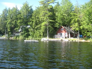 Sebago cottage photo - Our newly added side dock. Enjoy your early coffee while the sun comes up.