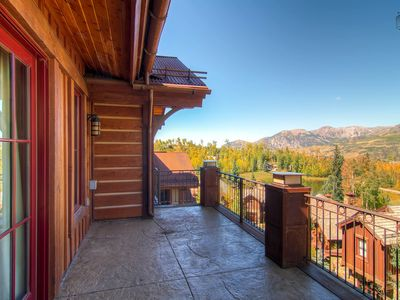 Check out the jaw dropping views of the San Sophia Mountain Range off the porch.
