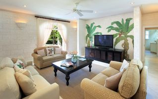 Sandy Lane villa photo - Comfortable media room with large screen cable TV and DVD player