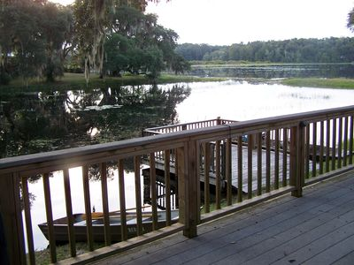 Sip your coffee on our lakeside deck!