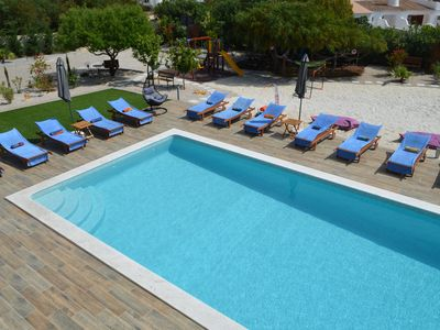 Stunning large family fun villa with man-made beach, heated pool, games room