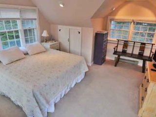 West Tisbury house photo - Bedroom #2 - King Suite, Vaulted Ceilings, Full Bath With Shower. Guest Cottage, Second Floor