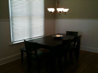 Wrightsville Beach condo photo - Dining table with bench