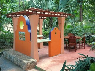 Barbeque area next to Mayan ruins--a great place to party! - Playa del Carmen villa vacation rental photo