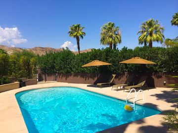 Cathedral City house rental - Heated ULTRA private pool. ! Green screen added to gate so now even more private