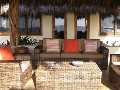 View of palapa in front of south casita