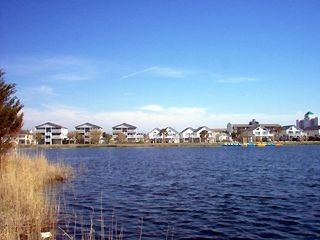 Carolina Beach condo photo - View from across the lake