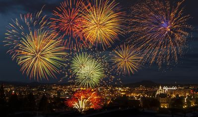 Fireworks shows are a regular occurrence during a Victoria summer.
