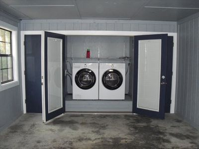 Washer and Dryer Available Outside in the Carport