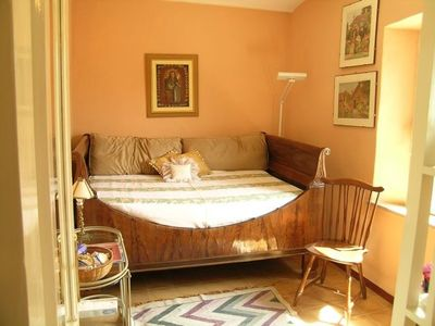 Bedroom with Antique Napoleon bed