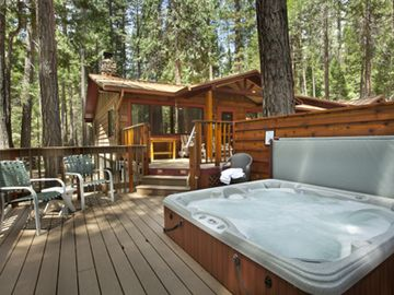 Fish Camp cabin rental - 7 person hot tub on deck