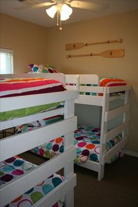 2 sets of bunk beds, perfect for the kids