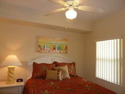 Treasure Island condo rental - Second Bedroom with Queen Bed and TV.