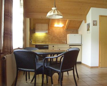 Unterbach farmhouse rental - Room with kitchen, 2 beds in the 2 room apartment