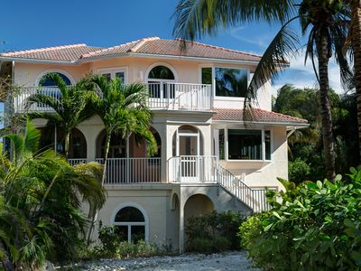Captiva Island house rental - It's Almost Heaven! Beach and bay views home. Sleeps 12. Elevator. Multimedia